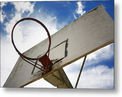 Basketball Hoop Metal Print by Bernard Jaubert