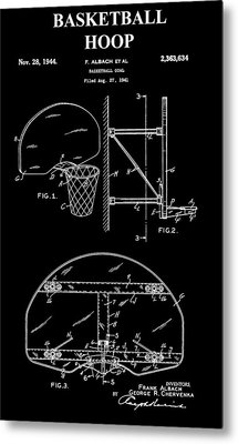 Basketball Hoop Patent Metal Print by Dan Sproul