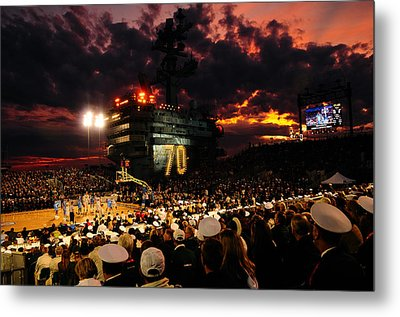 Basketball On A Carrier Metal Print by Mountain Dreams