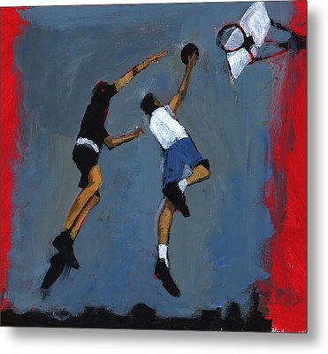 Basketball Players Metal Print by Paul Powis