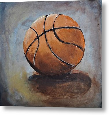 Basketball  Metal Print by Shannon Lee
