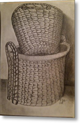 Baskets Metal Print by Irving Starr