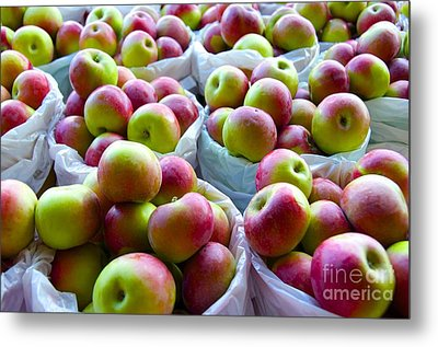 Baskets Of Apples  Metal Print by Sarah Mullin
