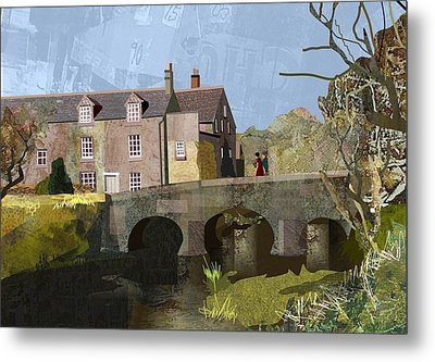Baslow Bridge Metal Print by Kenneth North