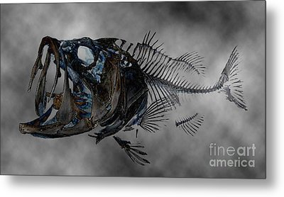 Bass Art Metal Print