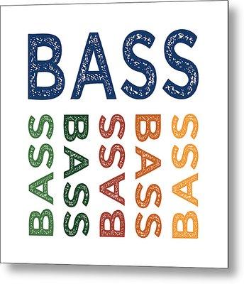 Bass Cute Colorful Metal Print by Flo Karp