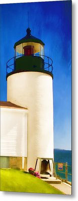 Bass Harbor Head Lighthouse Maine Metal Print by Carol Leigh