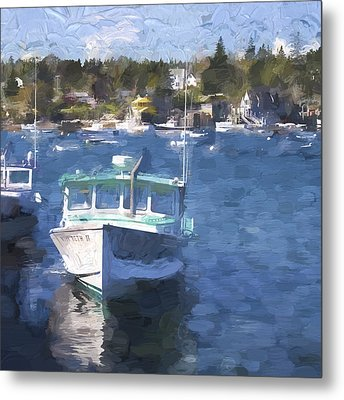 Bass Harbor Maine Painterly Effect Metal Print