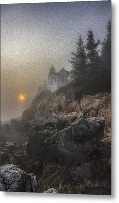 Bass Harbor Mist Metal Print