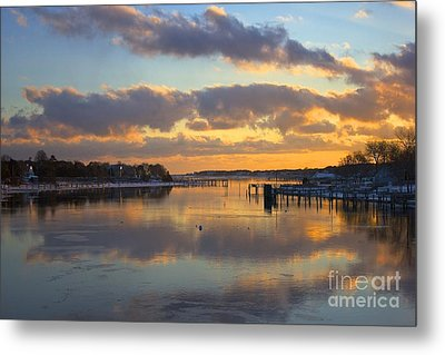 Bass River Reflection Metal Print by Amazing Jules
