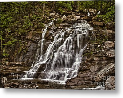 Metal Print featuring the photograph Bastion Falls - Catskills by Vicki DeVico