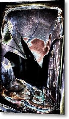 Bastrop Burning Broken Glass 1 Metal Print