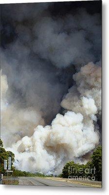 Bastrop Wildfire Crosses Hwy 71 Metal Print