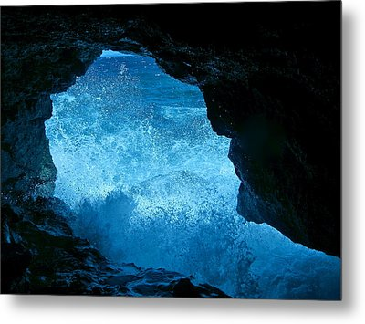 Bat Cave In Boracay Metal Print by Victoria Lakes