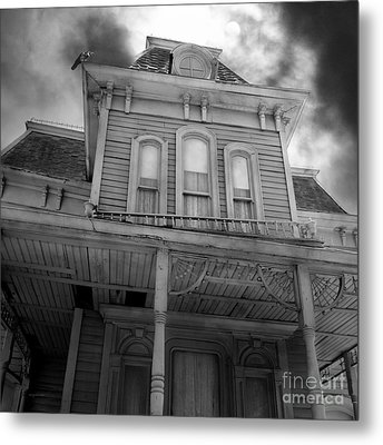 Bates Motel 5d28867 Square Black And White Metal Print