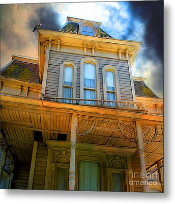 Bates Motel 5d28867 Square Metal Print by Wingsdomain Art and Photography