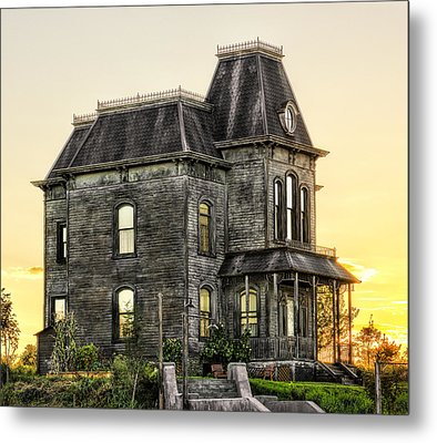 Bates Motel Haunted House Metal Print by Paul W Sharpe Aka Wizard of Wonders