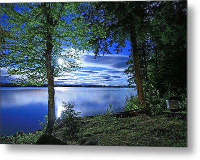 Bathed In Moonlight Metal Print
