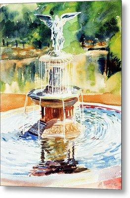 Bathesda Fountain Metal Print