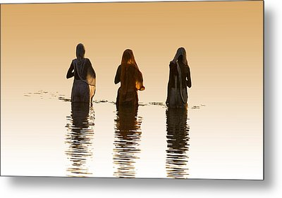 Bathing In The Holy River 2 Metal Print by Dominique Amendola