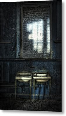 Bathroom Blues Metal Print