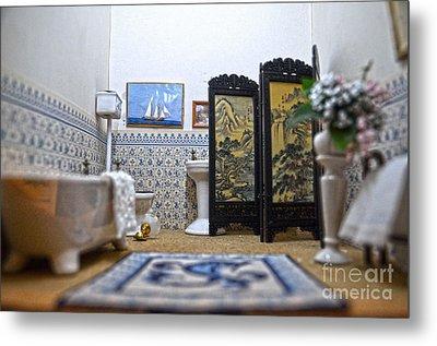 Bathroom For Royal Dolls Metal Print by RicardMN Photography