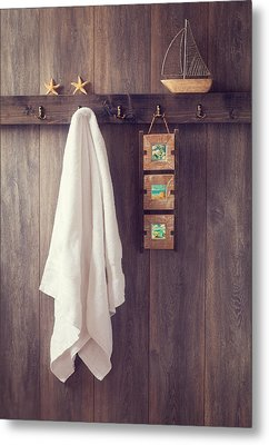 Bathroom Wall Metal Print by Amanda Elwell