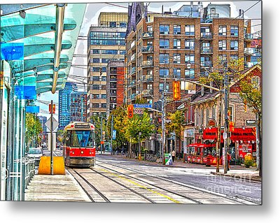 Bathurst Street Car Coming North To Queen Street Metal Print