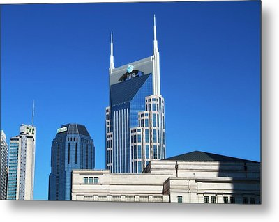 Batman Building And Nashville Skyline Metal Print by Dan Sproul