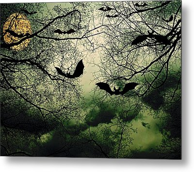 Bats From Hell Metal Print by Barbara S Nickerson