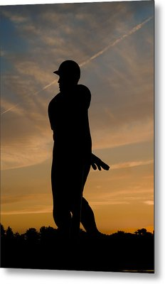 Batter At Dawn - Phillies Metal Print by Bill Cannon