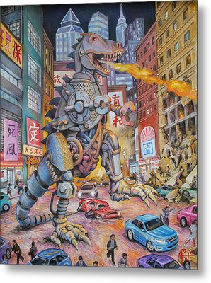 Batteries Not Included Metal Print