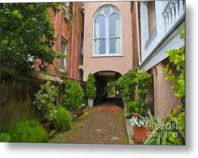 Battery Carriage House Inn Alley Metal Print