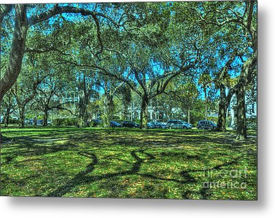 Battery Live Oaks Metal Print