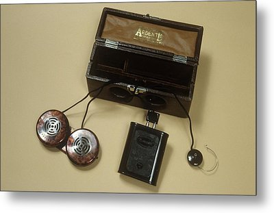 Battery Operated Hearing Aid Metal Print