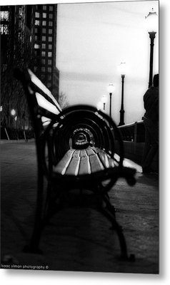 Battery Park Bench Metal Print by Isaac Silman