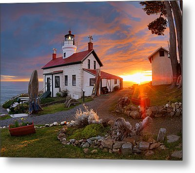 Battery Point Lighthouse Metal Print