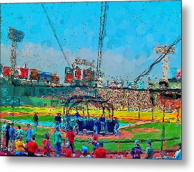 Batting Cage Fenway Metal Print