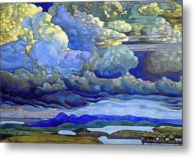 Battle In The Heavens Metal Print by Nicholas Roerich