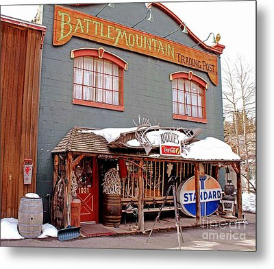 Metal Print featuring the photograph Battle Mountain Trading Post by Fiona Kennard