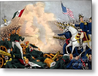 Battle Of Buena Vista Mexican-american Metal Print by Photo Researchers