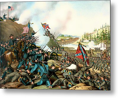 Battle Of Franklin Tennessee 1864 Metal Print