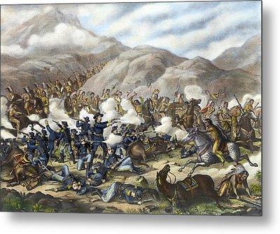 Battle Of Little Big Horn Metal Print by Granger