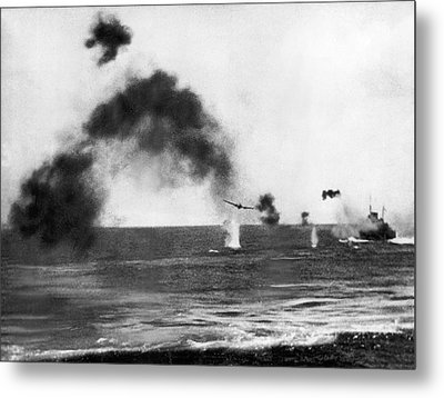 Battle Of Midway Metal Print by Underwood Archives