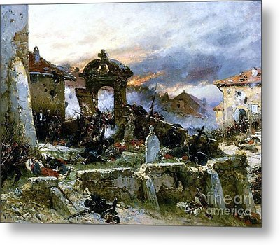 Battle Of Saint Privat Cemetary Metal Print by Pg Reproductions
