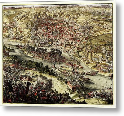 Battle Of Vienna Metal Print by Library Of Congress, Geography And Map Division