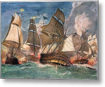 Battle Of Virginia Capes Metal Print