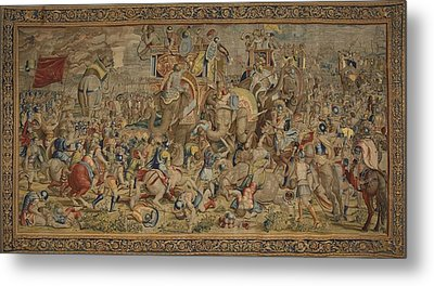 Battle Of Zama. 16th C. Spain. Madrid Metal Print by Everett