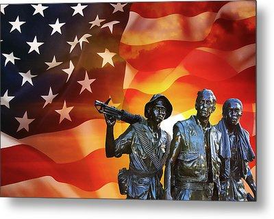 Battle Veterans Of The United States Metal Print by Daniel Hagerman