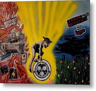 Metal Print featuring the digital art Battlefield Of Love by Lisa Piper